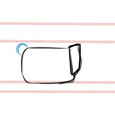 Draw a circle for the tail of your corgi drawing!