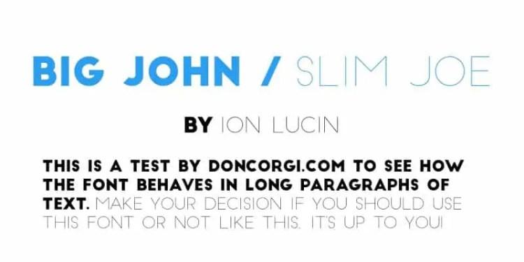 Big John Slim Joe
