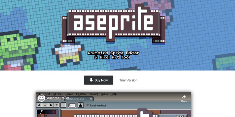 Aseprite - one of the best drawing software available for Pixel Art!
