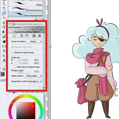 Check out the Free Transform Menu so you can rotate, scale and do more with your images in Clip Studio Paint - CSP!