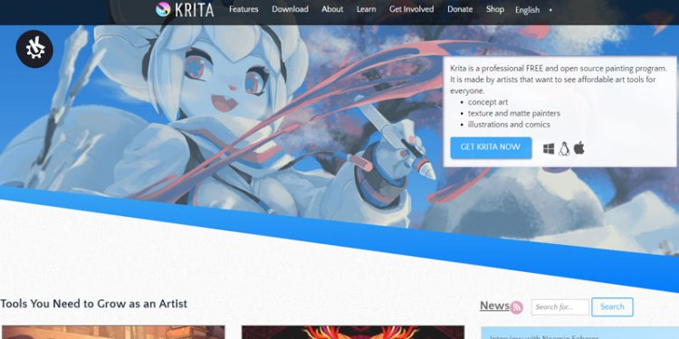 Krita a great and free drawing software perfect for digital painting!