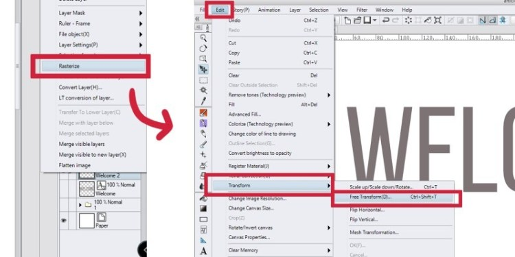 Rotating text can be tough in clip studio paint, but here's one of the ways to do it!