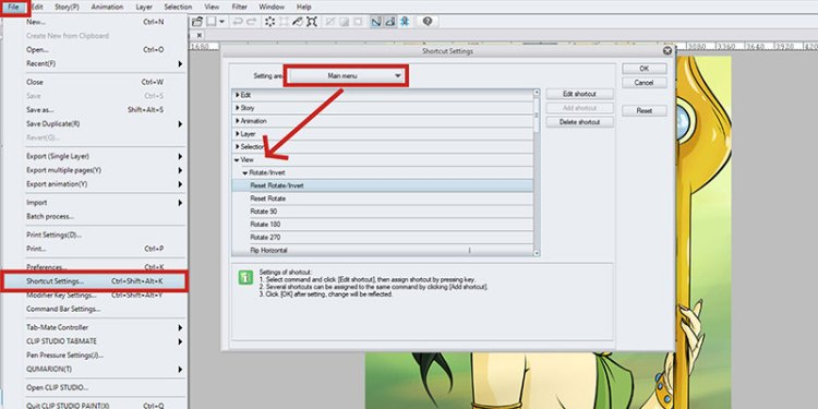 Using shortcuts will help you work faster, so be sure to use them in Clip Studio Paint!