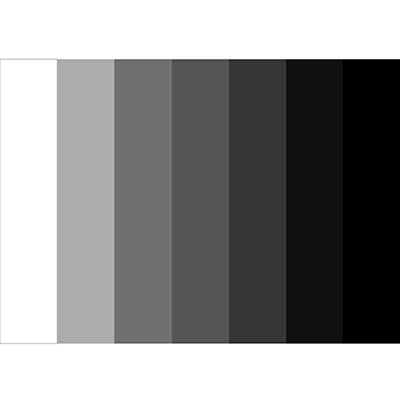 Here's an example of a tonal value chart. You should try drawing your own with pencils!