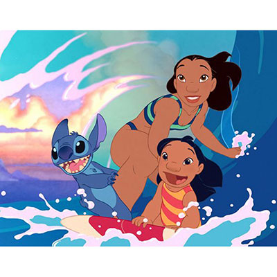 Modern disney has very strong colors as you can see here in Lilo And Stitch