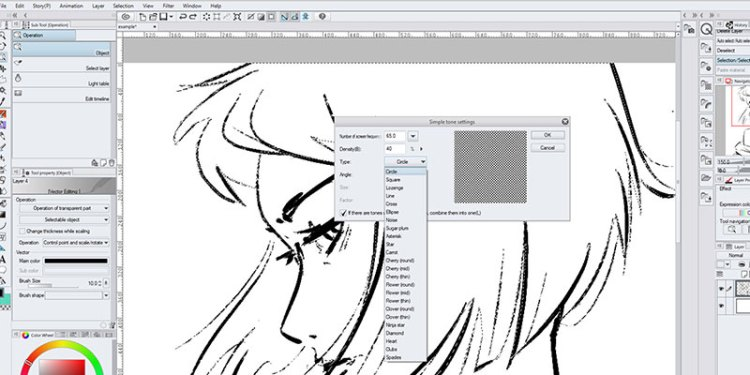 There are a few options that you can change in your screentone options, like frequency, density and shape!