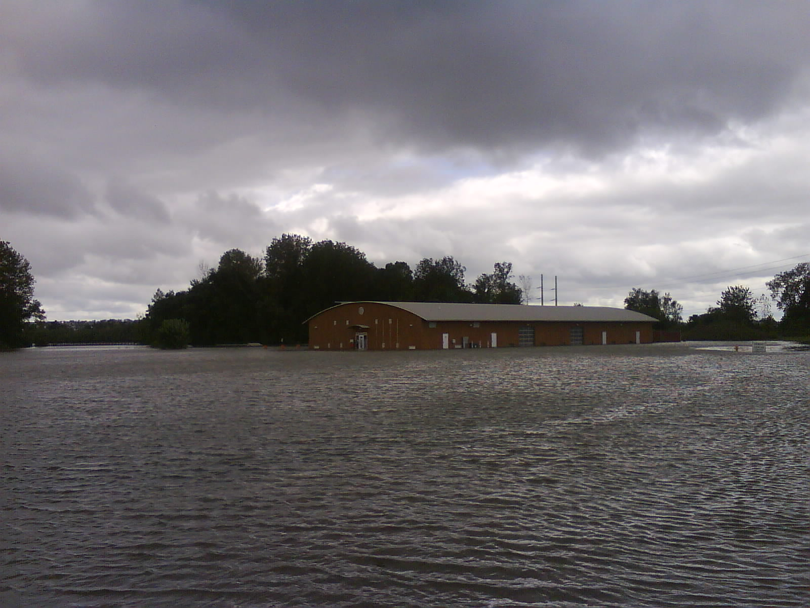 Flooding in Creve Coeur Lake's Boathouse