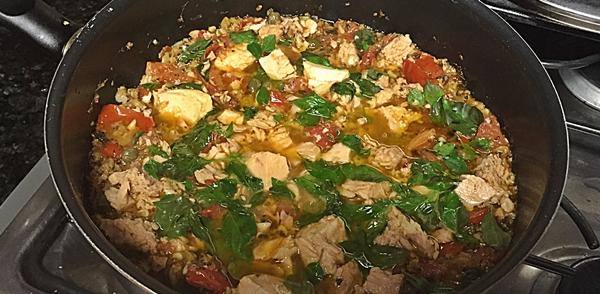 tuna in frypan