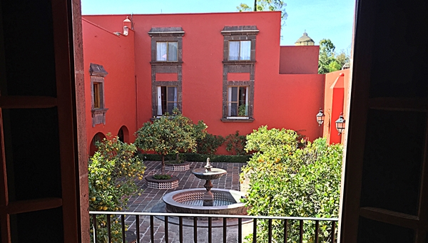 hacienda courtyard oranges