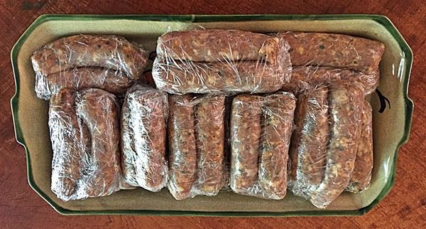 sausage for freezer