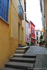 Las estrechas calles de Collioure