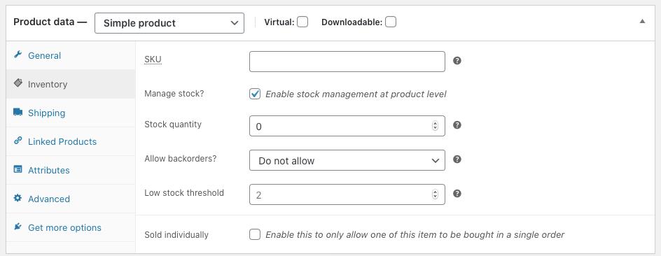 manage stock