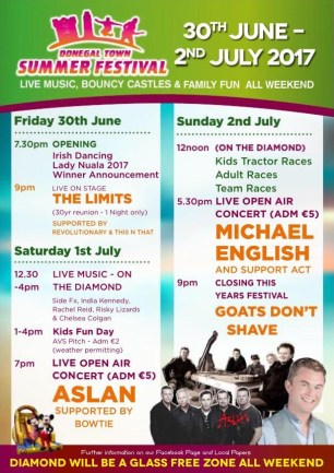 Click to view. Donegal Town Summer Festival 2017