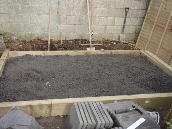 hardcaore for a patio base