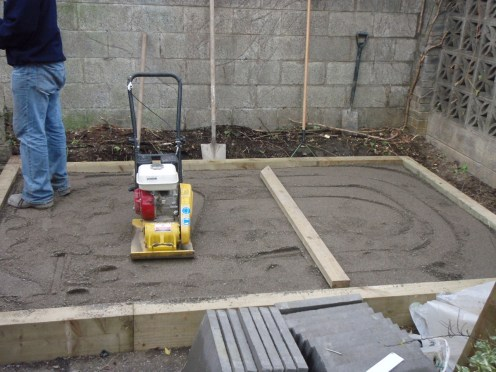 whacker and screed for patio base
