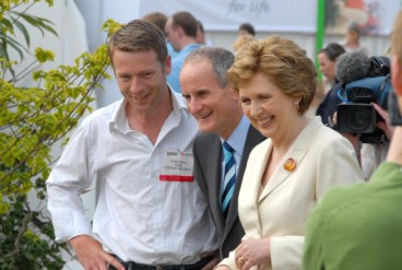 peter donegan and president of ireland mary mc aleese bloom 2008