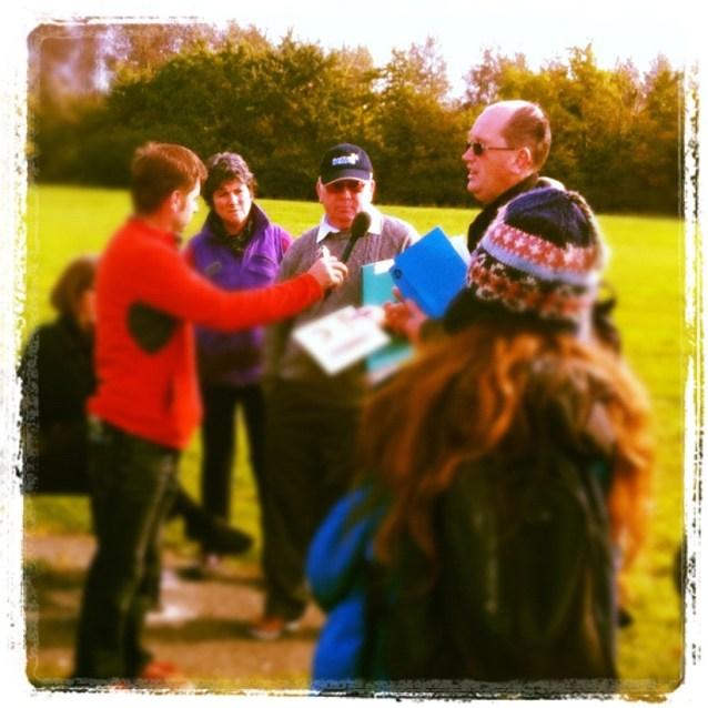 Máire Ní Dhomhnaill, Joe Hickey and David Cotter, corkagh park