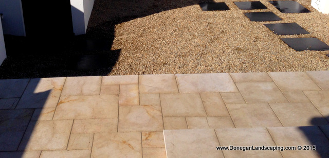travertine paving