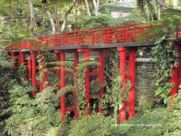 red, garden design