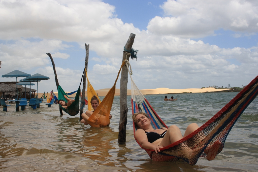 de relax en una llacuna camí Jericoacoara