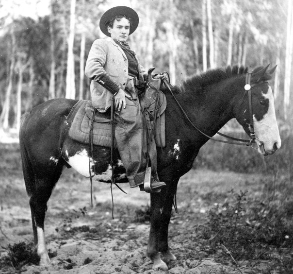 Jack Logie on horseback