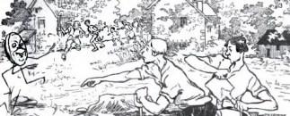 kumpulan dongeng dunia kue johnny dikejar penggali parit