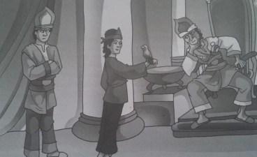 si burung bayan sedang bercerita kepada Raja Helat