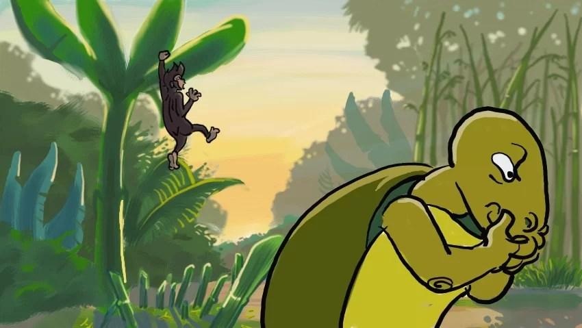 Hasil gambar untuk cerita kura kura dan monyet