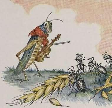 cerita fabel nusantara belalang dan semut