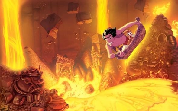 Aladin menemukan lampu ajaib dan karpet ajaib