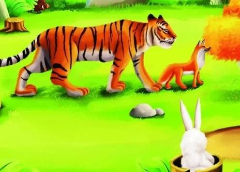 Fabel Dongeng Harimau dan Rubah Berlomba Lari