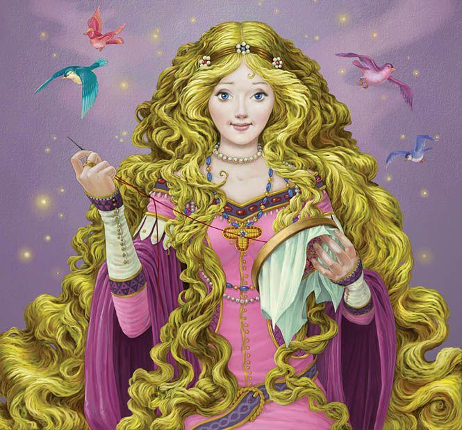 Contoh cerita rakyat singkat Gadis Berambut Emas