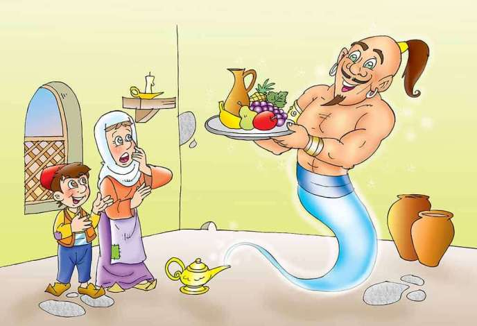 cerita aladin, jin dan putri yasmin