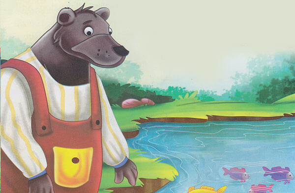 cerita pendek fabel beruang yang serakah