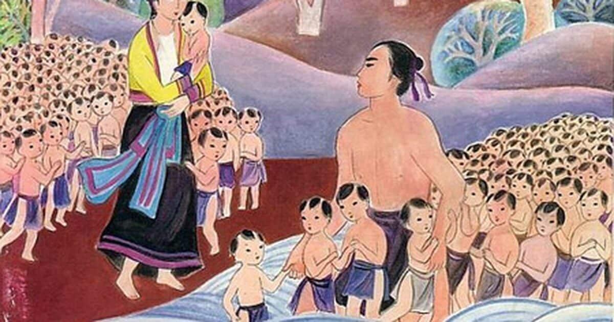 Legenda Lac Long Quan dan Au Cơ Cerita Rakyat Vietnam Kuno