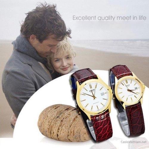 Đồng hồ đôi dây da gắn kết tình yêu thương