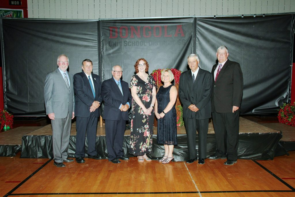 DUSD School Board 2018 (left to right: Phil Miller, Wayne Brown, John Snell, Cherie Wright, Stephanie Theis, Dana Eddleman, Mark Eddleman)