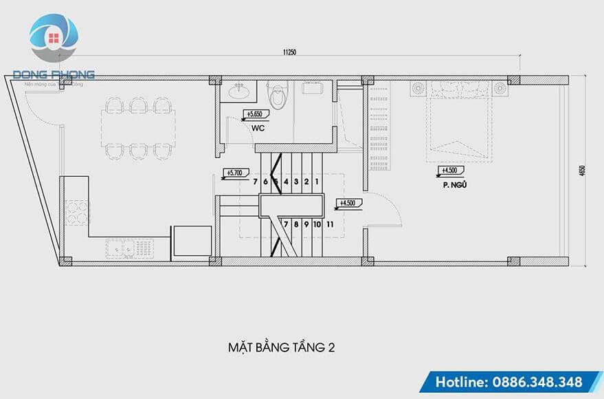 Nhà Phố 4 Tầng 1 Tum hiện đại tầng 2