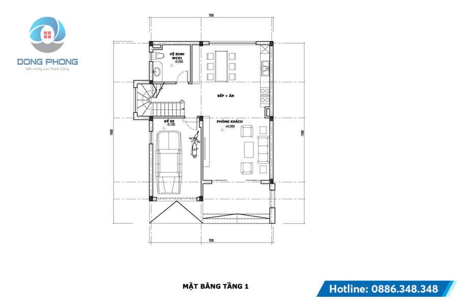 Mẫu biệt thự mini 3 tầng thiết kế đẹp Kiến trúc Đông Phong