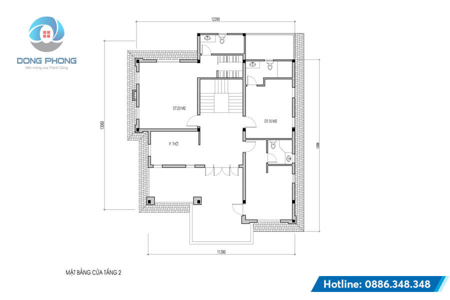biệt thự 2 tầng tân cổ điển