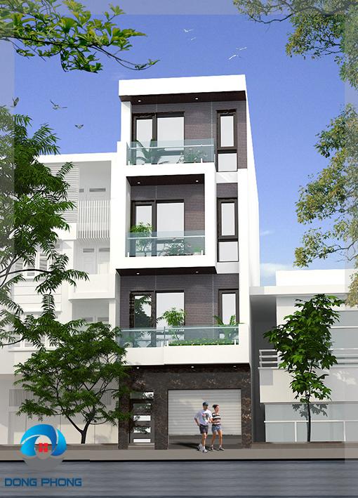 Có ban công nhỏ ở mỗi tầng để trồng cây xanh trang trí |Nhà lô hiện đại 4 tầng