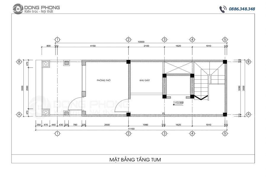 nhà phố tân cổ điển 40m2 4 tầng 1 tum NPCD1301-8