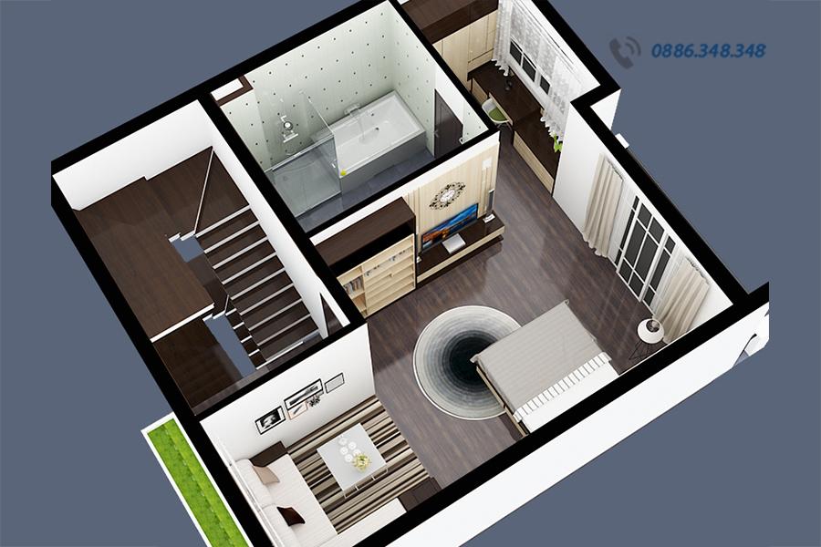 nội thất nhà phố hiện đại NTNP1309-3