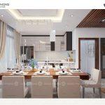 Phòng ăn được trang trí nội thất đẹp mắt sang trọng NPHS1300