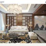Thiết kế nội thất cho phòng khách nhà 3 tầng đầy sang trọng