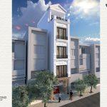 nhà phố tân cổ điển 40m2 4 tầng 1 tum NPCD1301-2