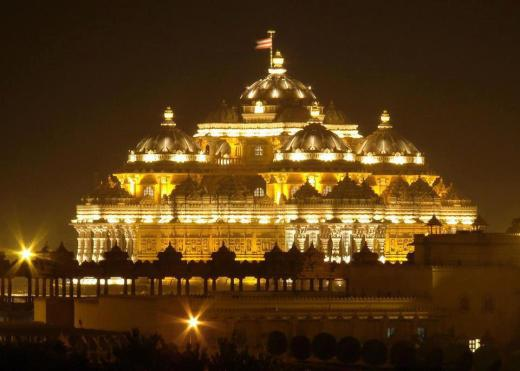 Akshardham Temple Night View