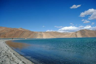 Leh Mountain and Lake