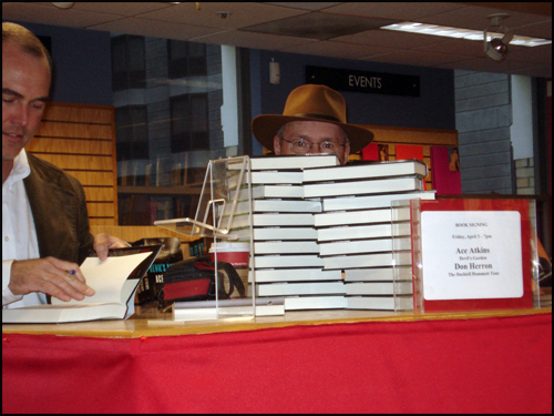 Don Herron with Ace Atkins at a book signing at Borders