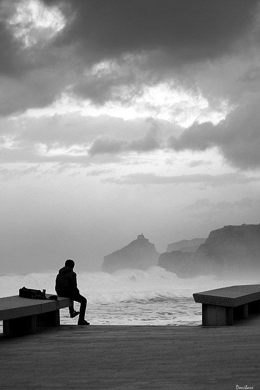Desde Bakio (costa de Bizkaia) ayer a la tarde, con vistas a San Juan de Gaztelugatxe, by Donibane